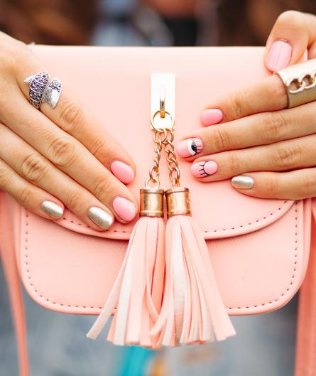 Pink Flap Crossbody Bags